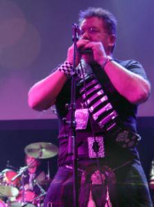 Judd Lander with harp belt