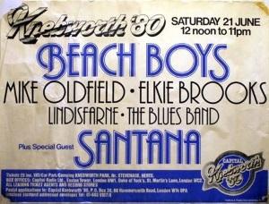 Poster Knebworth 1980 i